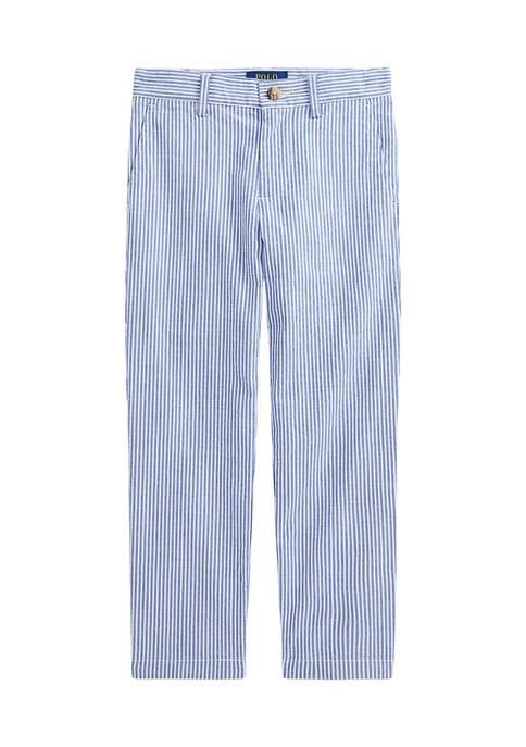 Ralph Lauren Childrenswear Boys 4-7 Stretch Cotton Seersucker