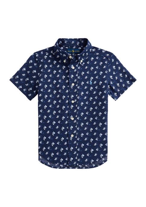 Ralph Lauren Childrenswear Boys 4-7 Angelfish Print Cotton