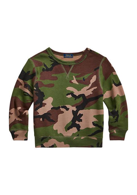 Ralph Lauren Childrenswear Boys 4-7 Camouflage Fleece Sweatshirt