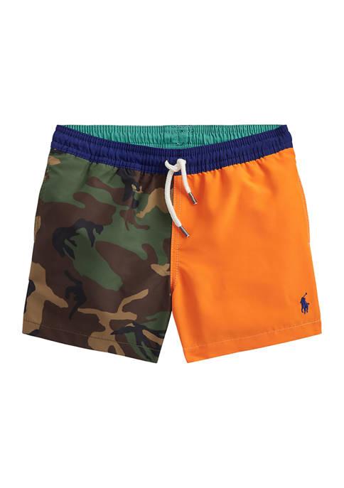 Ralph Lauren Childrenswear Boys 4-7 Traveler Swim Trunks