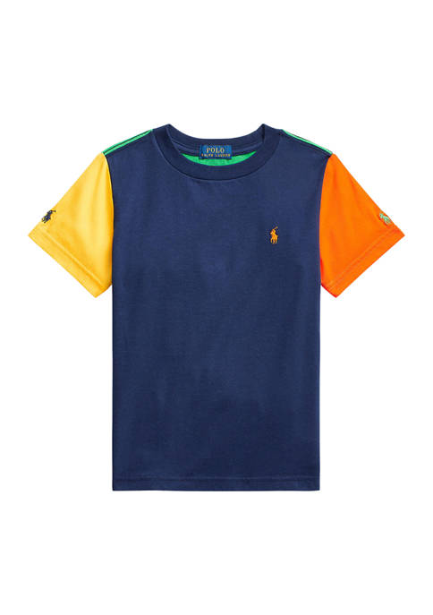 Ralph Lauren Childrenswear Boys 4-7 Color Blocked Cotton
