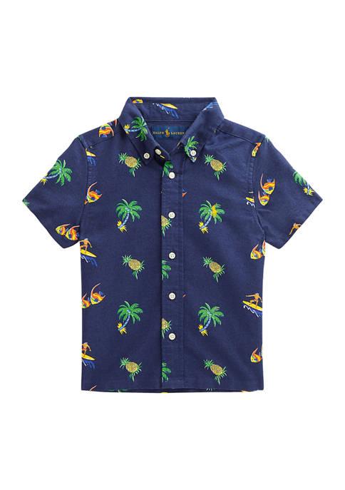 Ralph Lauren Childrenswear Boys 4-7 Tropical Print Cotton