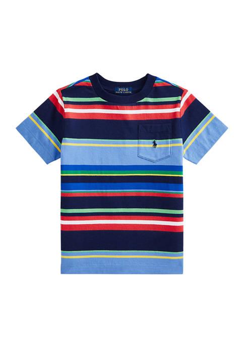 Boys 4-7 Striped Cotton Jersey Pocket T-Shirt