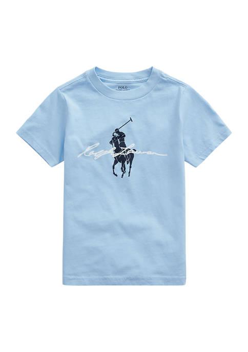 Boys 4-7 Big Pony Logo Cotton Jersey T-Shirt