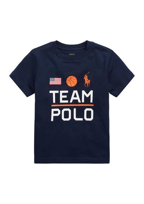 Boys 4-7 Team Polo Cotton Jersey T-Shirt
