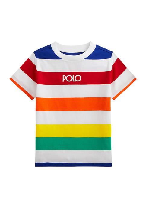 Ralph Lauren Childrenswear Boys 4-7 Logo Striped Cotton