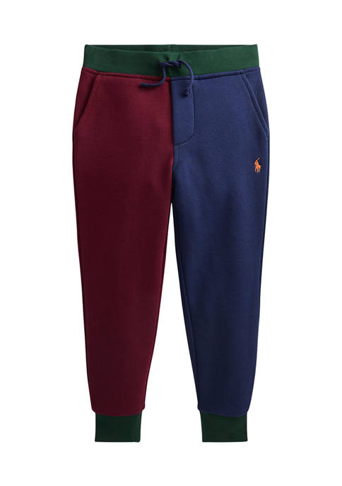 Ralph Lauren Childrenswear Boys 4-7 Color-Blocked Fleece Joggers