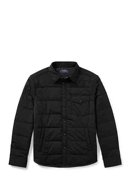 Ralph Lauren Childrenswear Quilted Stretch Shirt Jacket Boys 8-20 ...