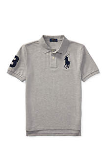 Cotton Mesh Polo Shirt Boys 8-20