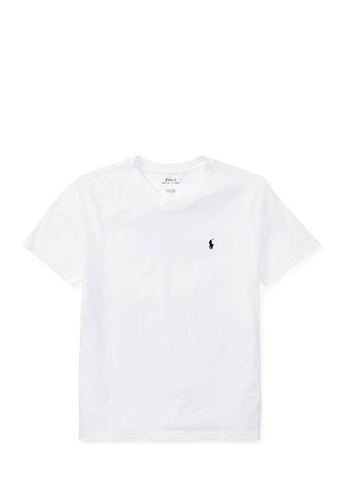 Cotton Jersey V-Neck T-Shirt Boys 8-20