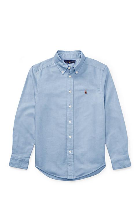 Ralph Lauren Childrenswear Cotton Oxford Sport Button Front