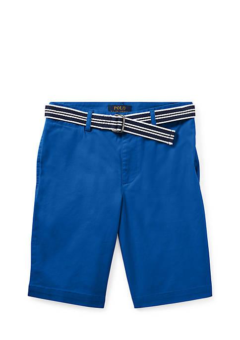 Ralph Lauren Childrenswear Slim Fit Belted Stretch Shorts
