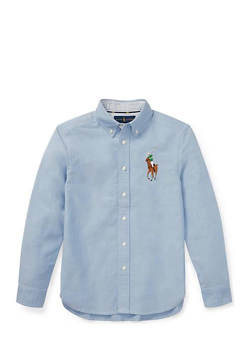 Big Pony Cotton Oxford Shirt Boys 8-20