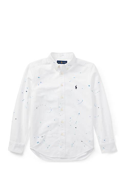 Paint-Splatter Cotton Shirt Boys 8-20