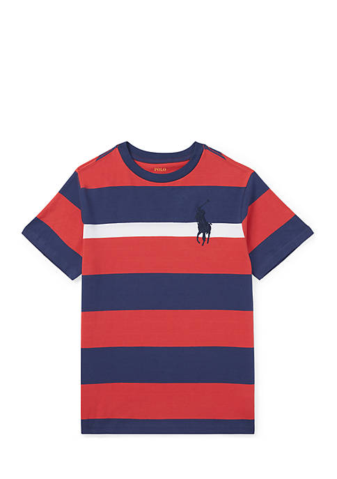 Ralph Lauren Childrenswear YD JERSEY-BIG PP TEE-TOPS-T-SHIRT