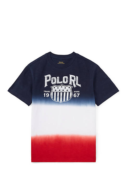 Ralph Lauren Childrenswear Boys 8-20 Dip-Dyed Cotton Jersey