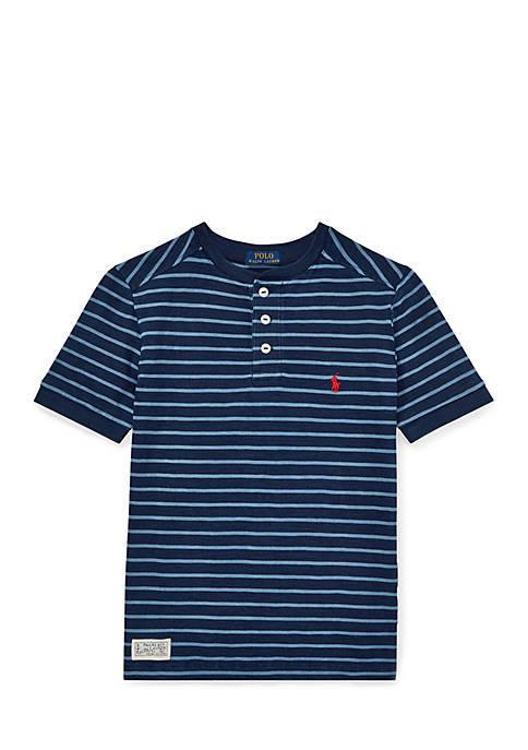Ralph Lauren Childrenswear Boys 8-20 Striped Cotton Henley