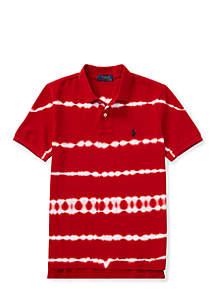 Boys 8-20 Tie-Dye Cotton Mesh Polo