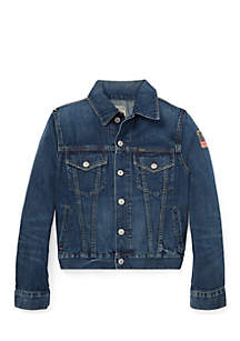 Boys 8-20 Cotton Denim Trucker Jacket