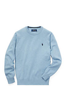Boys 8-20 Cotton Crew Neck Sweater