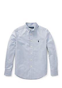 Boys 8-20 Plaid Stretch Cotton Shirt