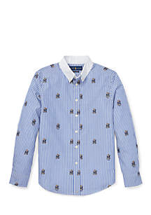 Boys 8-20 Striped Stretch Cotton Shirt