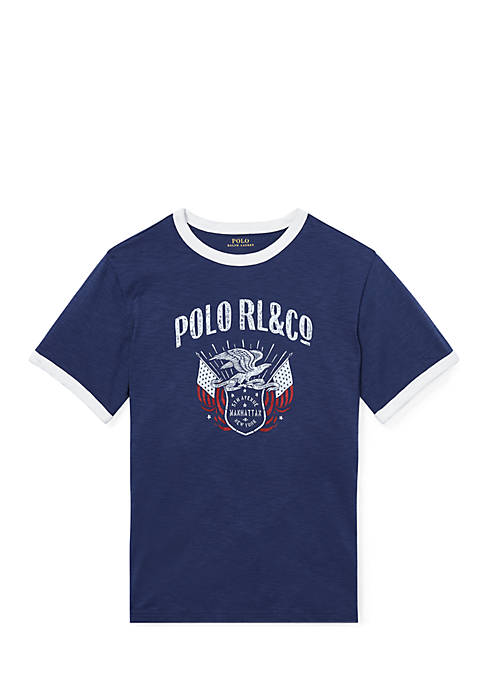 Ralph Lauren Childrenswear Boys 8-20 Cotton Jersey Graphic