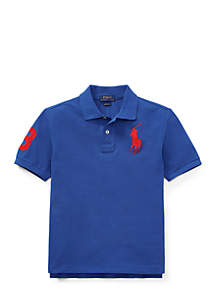Boys 8-20 Classic Fit Cotton Mesh Polo