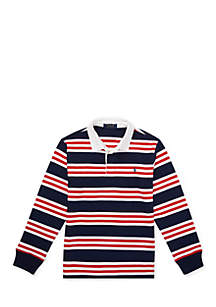 Boys 8-20 Striped Cotton Jersey Rugby Shirt