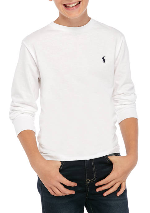 Ralph Lauren Childrenswear Boys 8-20 Cotton Jersey Crewneck