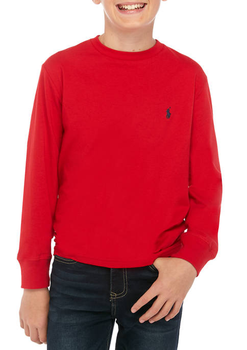 Ralph Lauren Childrenswear Boys 8-20 Cotton Jersey Crewneck