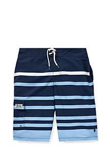 Boys 8-20 Kailua Striped Swim Trunk