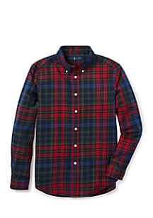 Boys 8 - 20 Plaid Cotton Twill Shirt