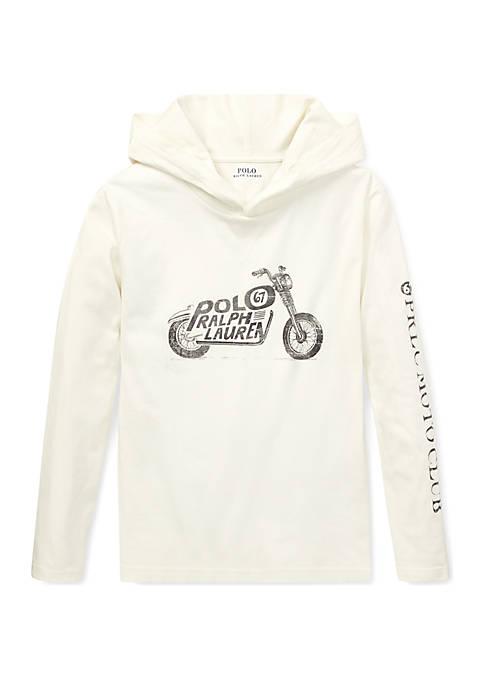 Ralph Lauren Childrenswear Boys 8-20 Cotton Hooded Graphic