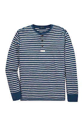 436b128f6 Ralph Lauren Childrenswear Boys 8-20 Striped Cotton Mesh Henley Shirt ...