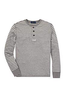 Boys 8-20 Striped Cotton Mesh Henley