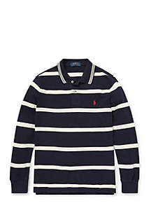 Boys 8-20 Striped Cotton Mesh Polo
