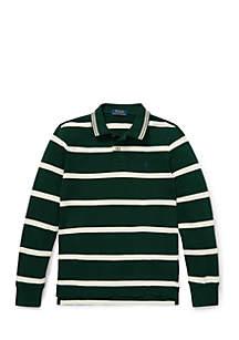 Boys 8-20 Striped Cotton Mesh Polo