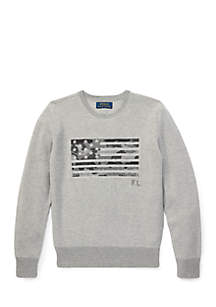 Boys 8-20 Waffle Knit Graphic Hoodie