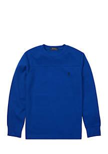 Boys 8-20 Waffle-Knit Crew Neck T-Shirt