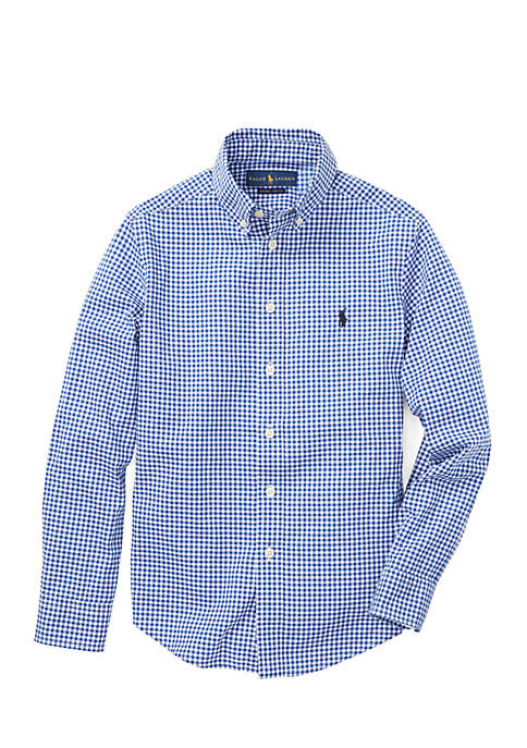 Boys 8-20 Cotton Poplin Sport Shirt