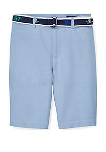 Ralph Lauren Childrenswear Boys 8-20 Slim Fit Belted Stretch Shorts