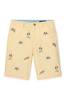 Ralph Lauren Childrenswear Boys 8-20 Slim Fit Cotton Oxford Shorts