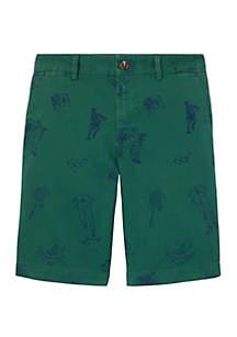 Ralph Lauren Childrenswear Boys 8-20 Slim Fit Stretch Chino Shorts