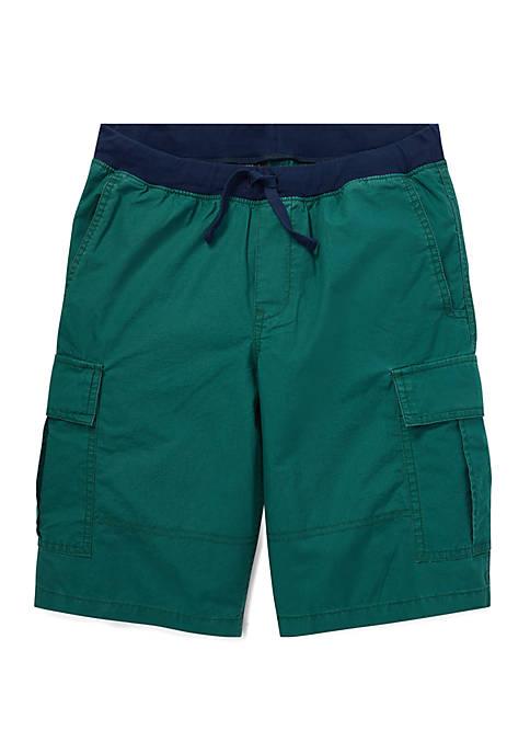 Boys 8-20 Cotton Pull On Cargo Shorts