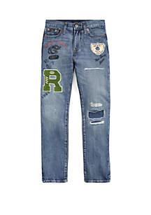 Ralph Lauren Childrenswear Boys 8-20 Sullivan Slim Distressed Jeans