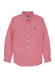 Ralph Lauren Childrenswear Boys 8-20 Gingham Cotton Poplin Shirt