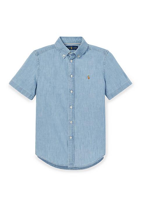 Boys 8-20 Cotton Chambray Shirt