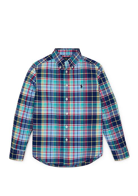 de05beee Ralph Lauren Childrenswear Boys 8-20 Icon-Print Cotton Oxford Shirt ...