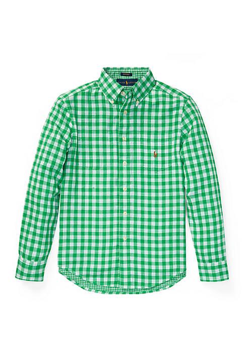 Ralph Lauren Childrenswear Boys 8-20 Reversible Gingham Cotton